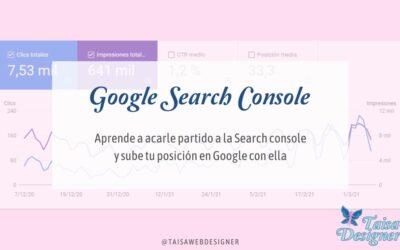 Cómo mejorar el posicionamiento web con Google Search console