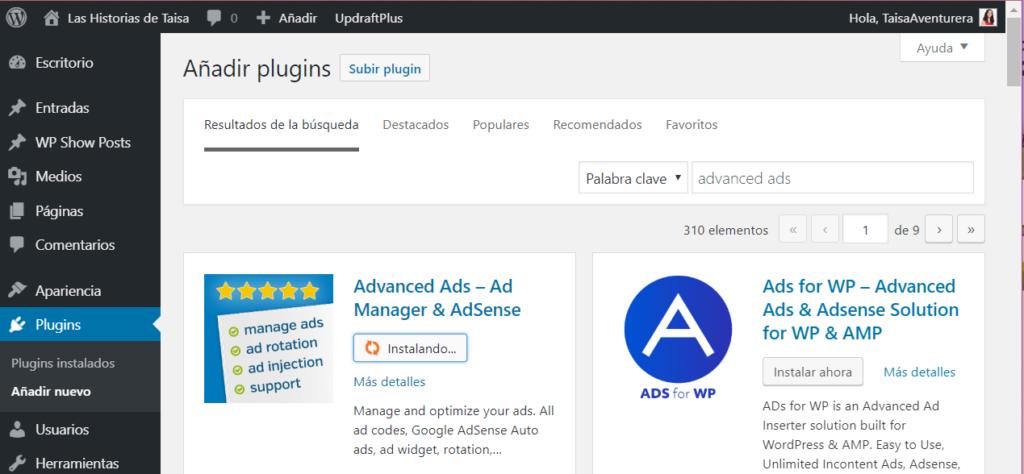 Instalar AdSense en WordPress con un plugin gratuito
