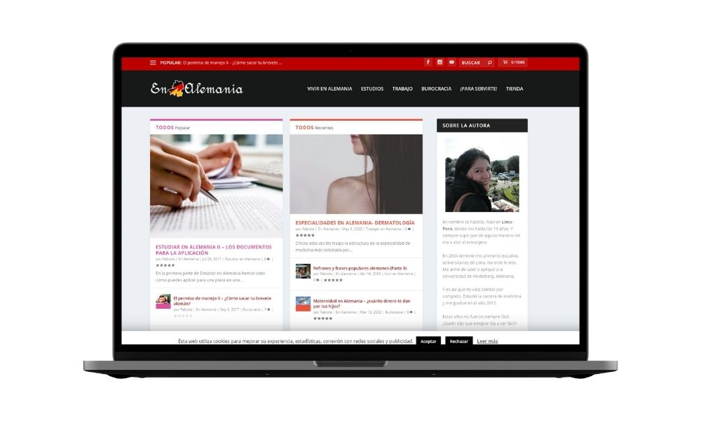 Diseño blog Alemania