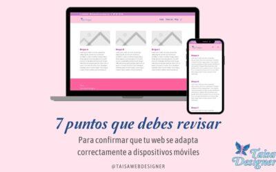 7 puntos para revisar de tu web en el móvil