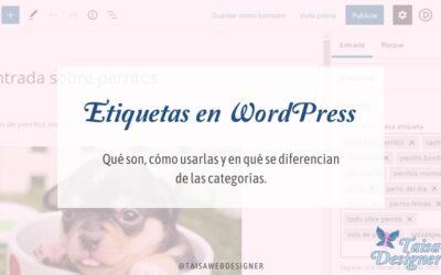 Etiquetas en WordPress: Qué son y cómo usarlas