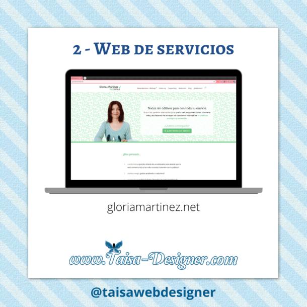 Ejemplo de Web profesional de servicios Biocopy gloriamartinez.net