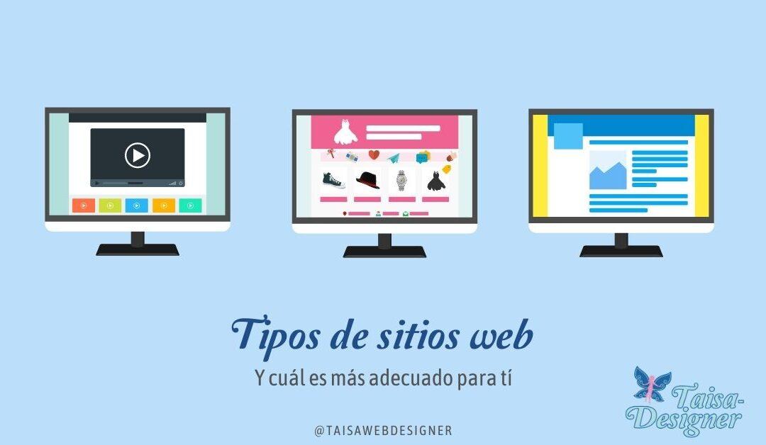 Tipos de página web y cual elegir