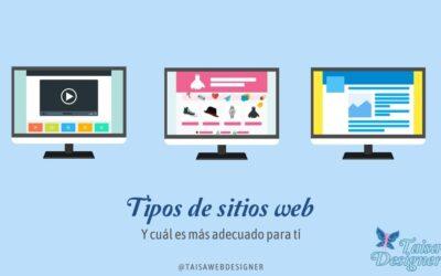 Tipos de páginas web y cual elegir