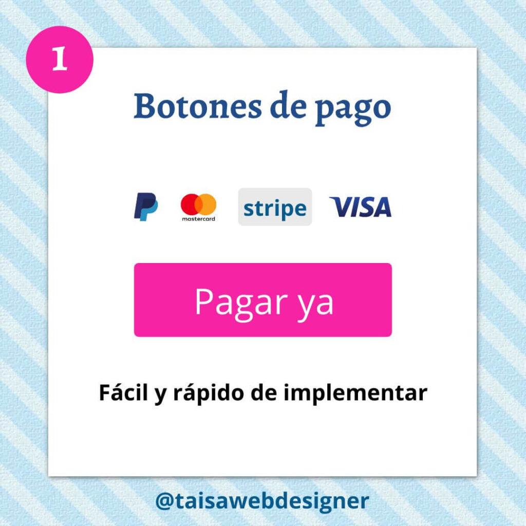 Cómo cobrar por un curso online - Cobrar con botones de Paypal o Stripe