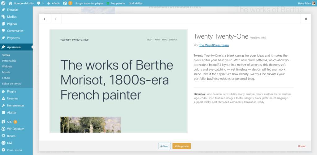 WordPress 5.6 Nuevo tema Twenty Twenty-One