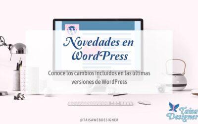 Novedades en WordPress 5.8 y Gutenberg