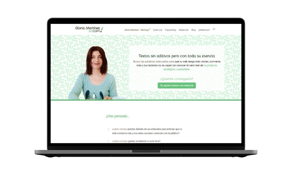 Diseño web para copywriters