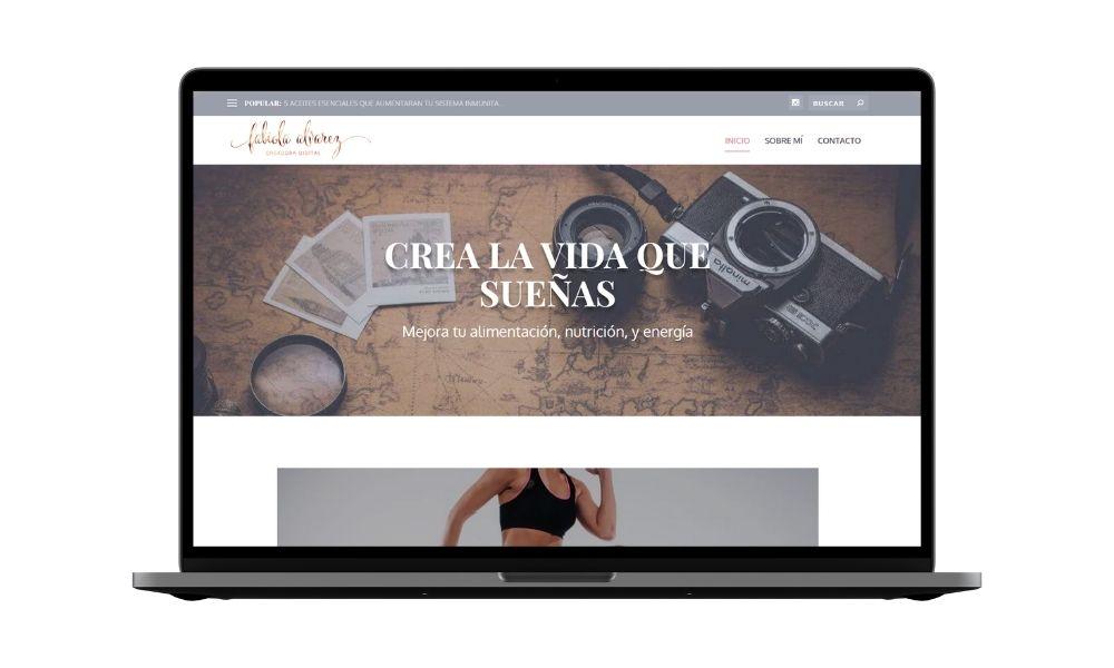 Diseño de blog sobre nutrición