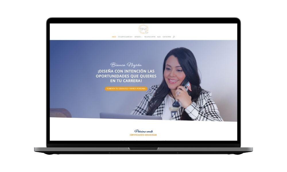 Diseño web para Coach Bianca Negrón