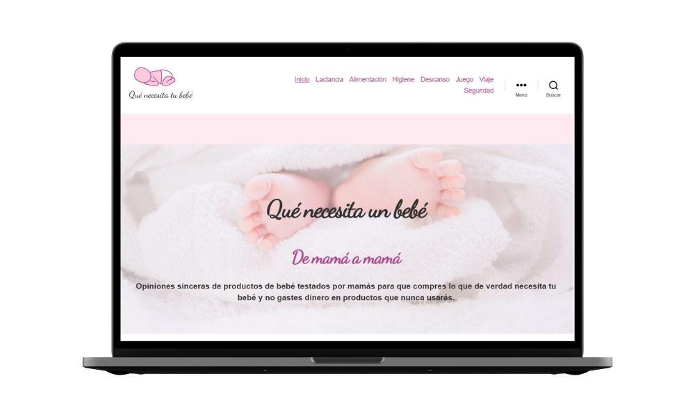 Diseño de blog de maternidad - nichos