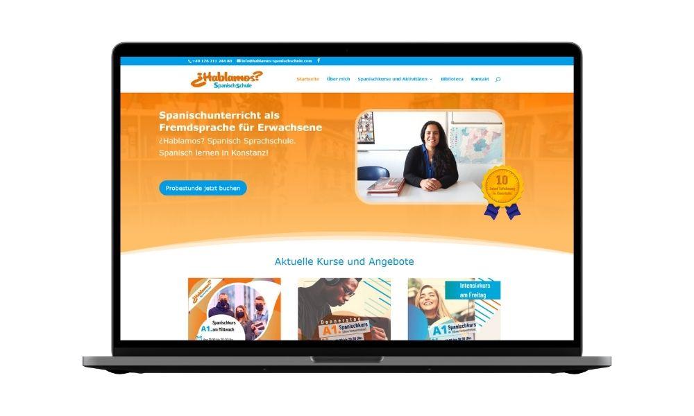 Diseño web para escuela de idiomas
