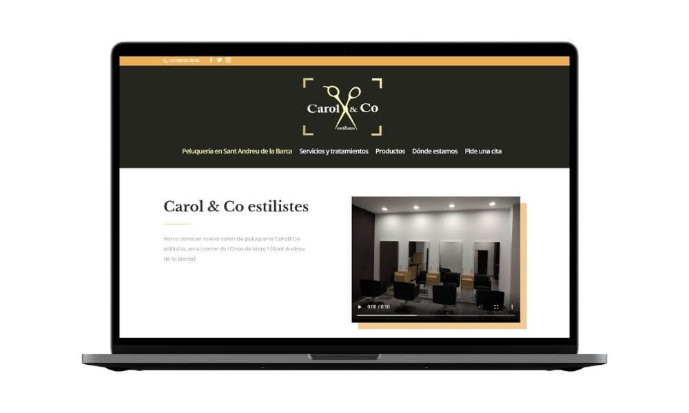 Diseño web peluquería