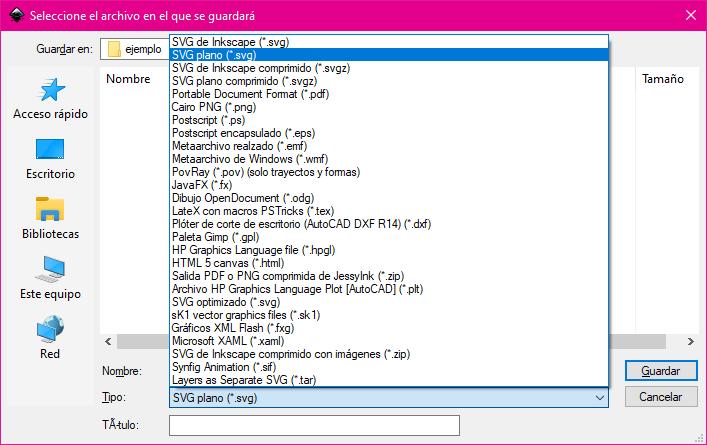 Cambiar el formato del fichero SVG para poder subirlo a Canva
