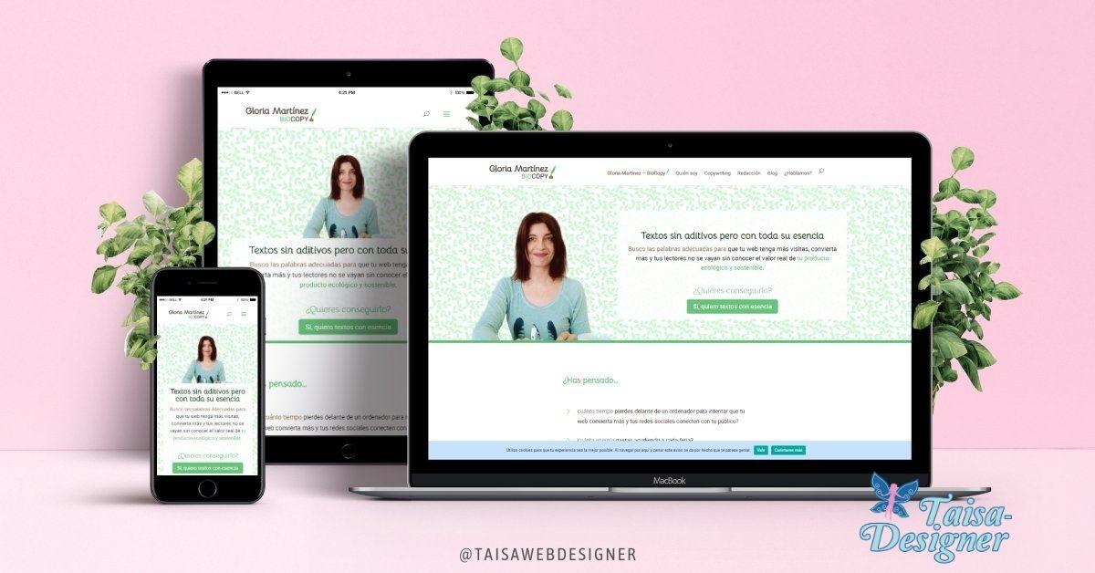 Portfolio de diseño web de Taisa-Designer