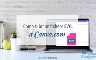 Cómo subir un archivo SVG a Canva o de otros formatos vectoriales en 3 pasos