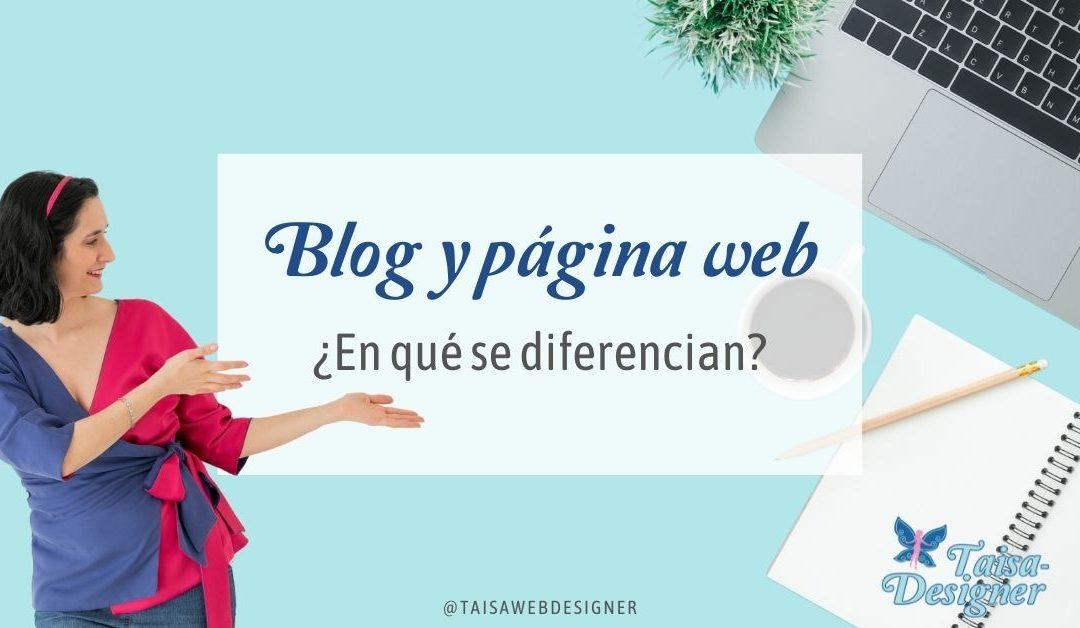 Qué diferencia hay entre página web y blog, qué es un blog y ventajas.