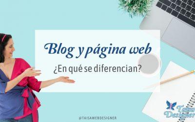 ¿Qué diferencia hay entre página web y blog?