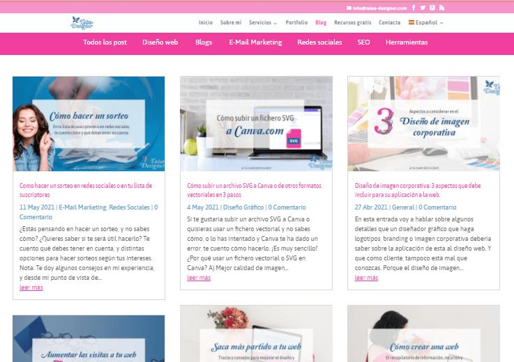 Ejemplo de blog - ¿Cómo saber si es un blog o una pagina web?