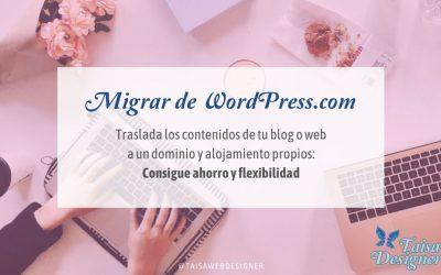 Cómo migrar WordPress.com a dominio propio (WordPress.org)