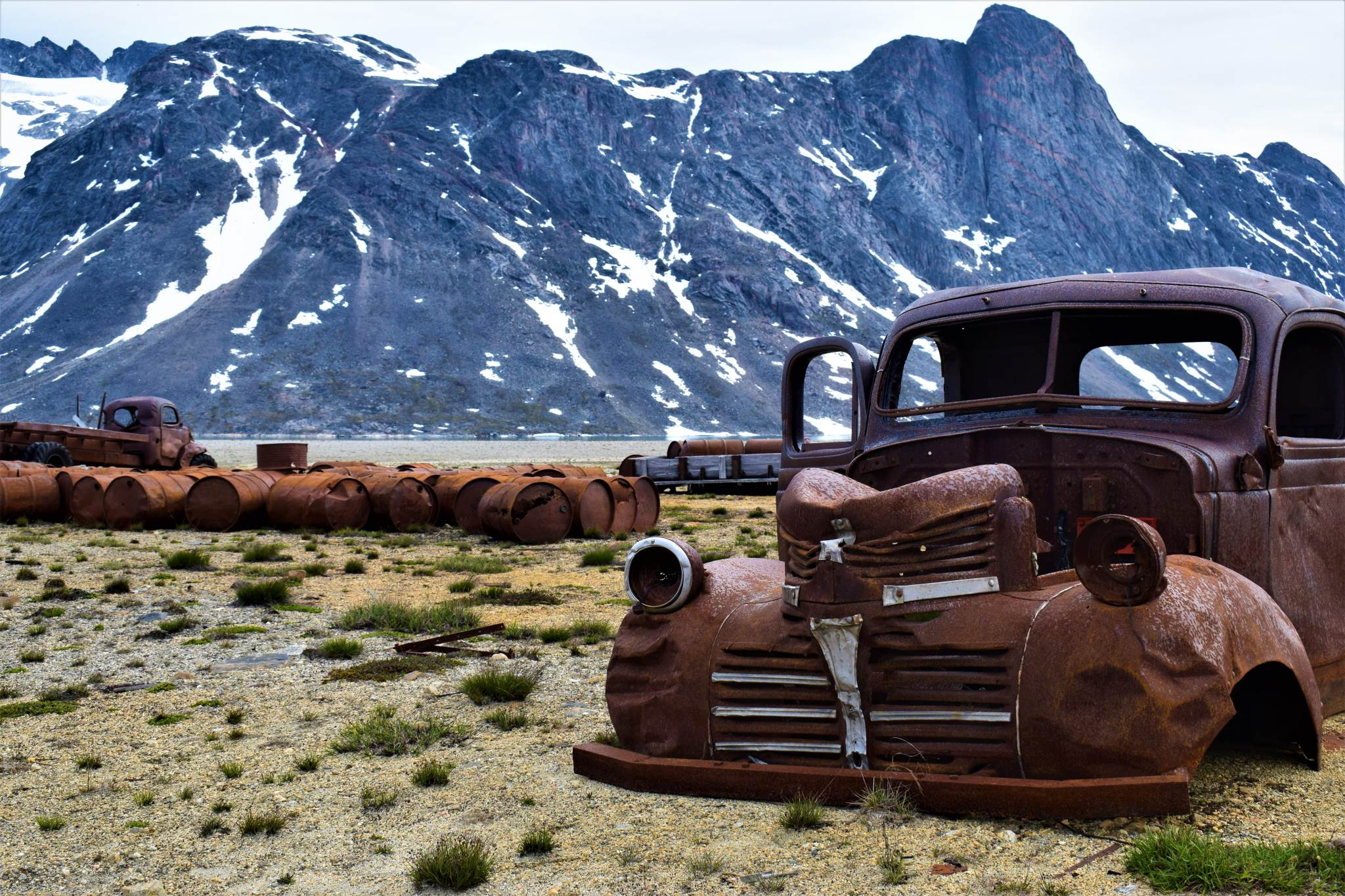 Old truck at the abandoned Bluie East 2 base