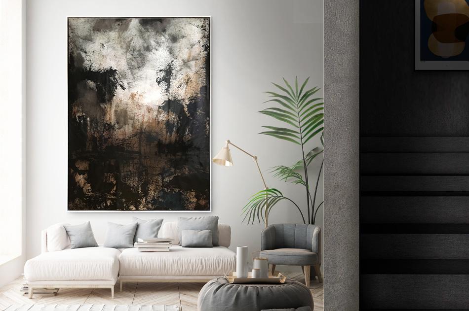 Stora tavlor abstrakt modern konst Tomas Vagner original natur hav