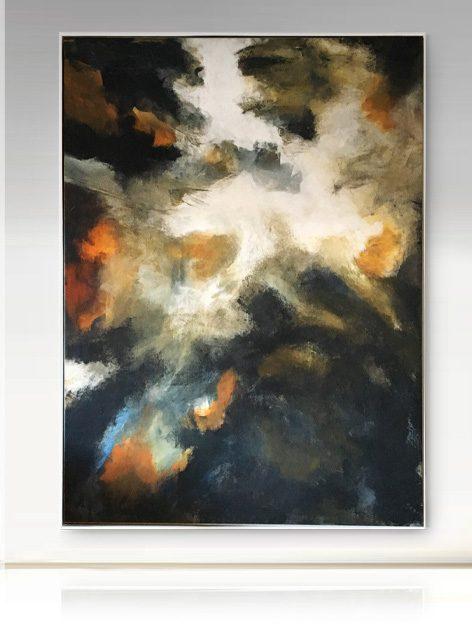 abstrakt stora tavlor akryl konst Tomas Vagner