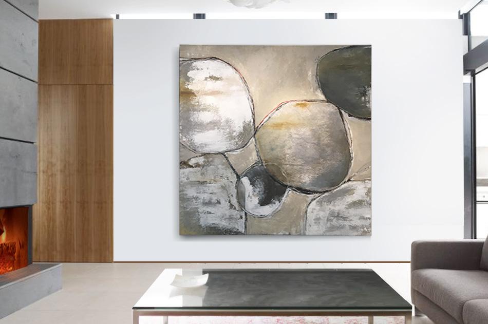 abstrakt stor tavla stenar modern akryl konst Tomas Vagner
