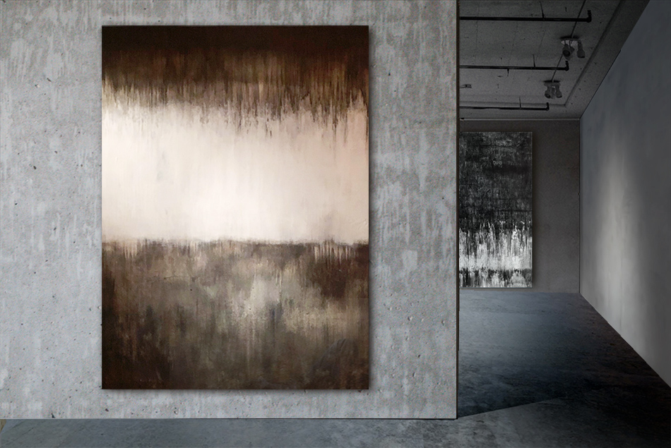 Abstrakt tavla konst Tomas Vagner