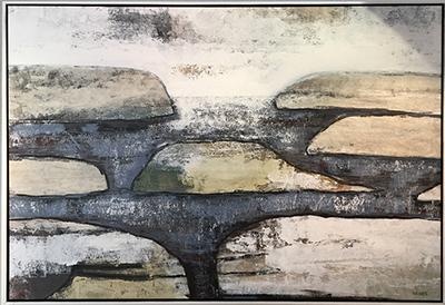 abstrakt stora tavlor original Tomas Vagner modern konst hav natur kust stenar
