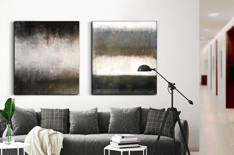 abstrakt stora tavlor modern akryl konst Tomas Vagner