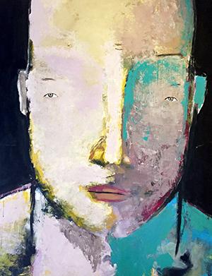 Abstrakt målning konst Tomas Vagner