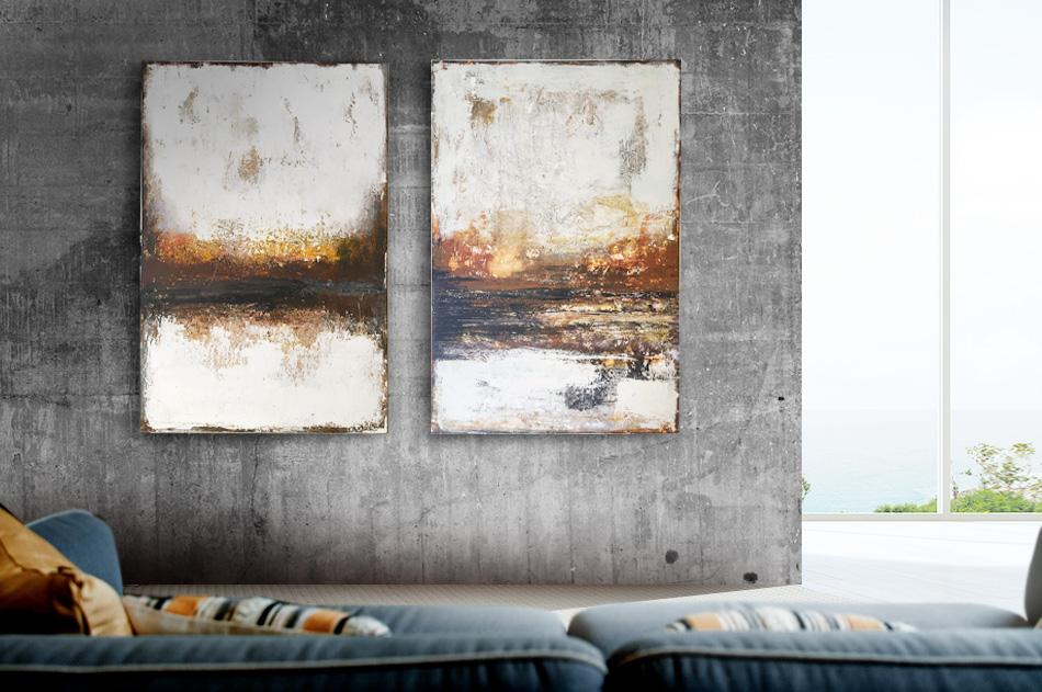 Abstrakt tavla horisont rost Tomas Vagner