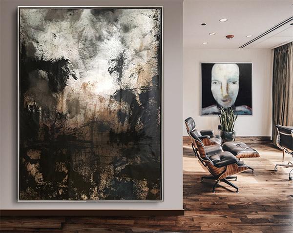 Stor abstrakt tavla New Jersey USA Tomas Vagner
