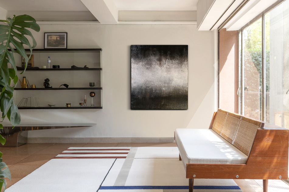 Abstrakt tavla minimalistic modern konst Tomas Vagner