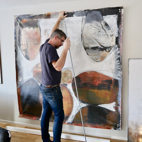 abstrakta stora tavlor i original tomas Vagner inspirerar