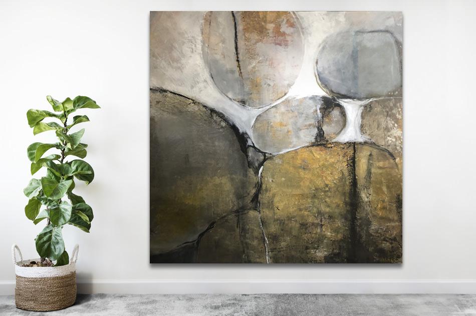 abstrakt stor tavla natur modern akryl konst Tomas Vagner