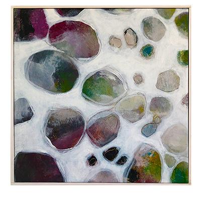 stor tavla abstrakt akryl Tomas Vagner