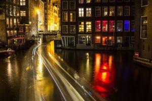 amsterdam, canal, night
