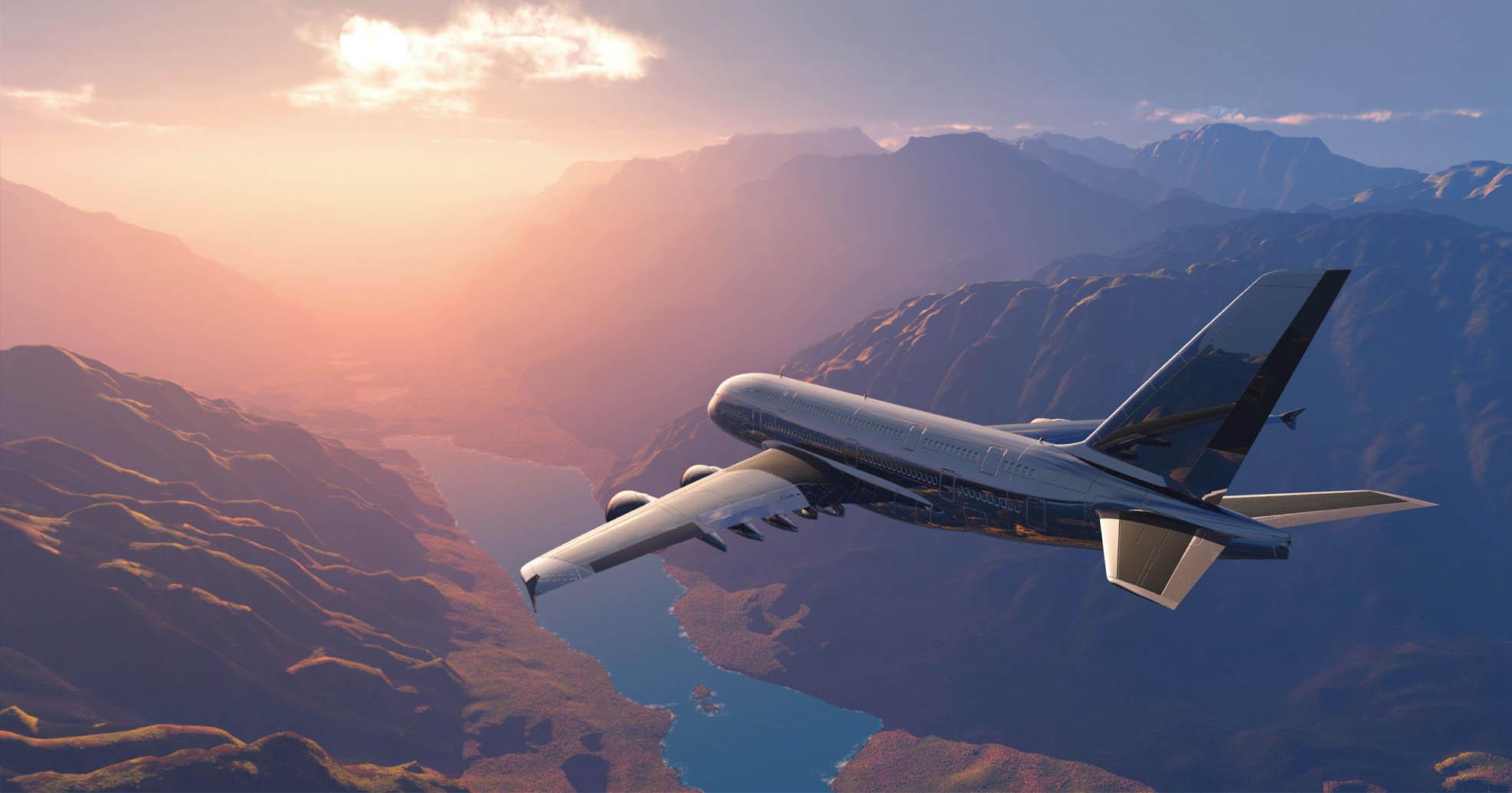 banner airplane airport alicante spain