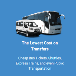 The Lowest Cost on Transfers Cheap bus tickets, Shuttles, Express Trains, and even Public Transportation