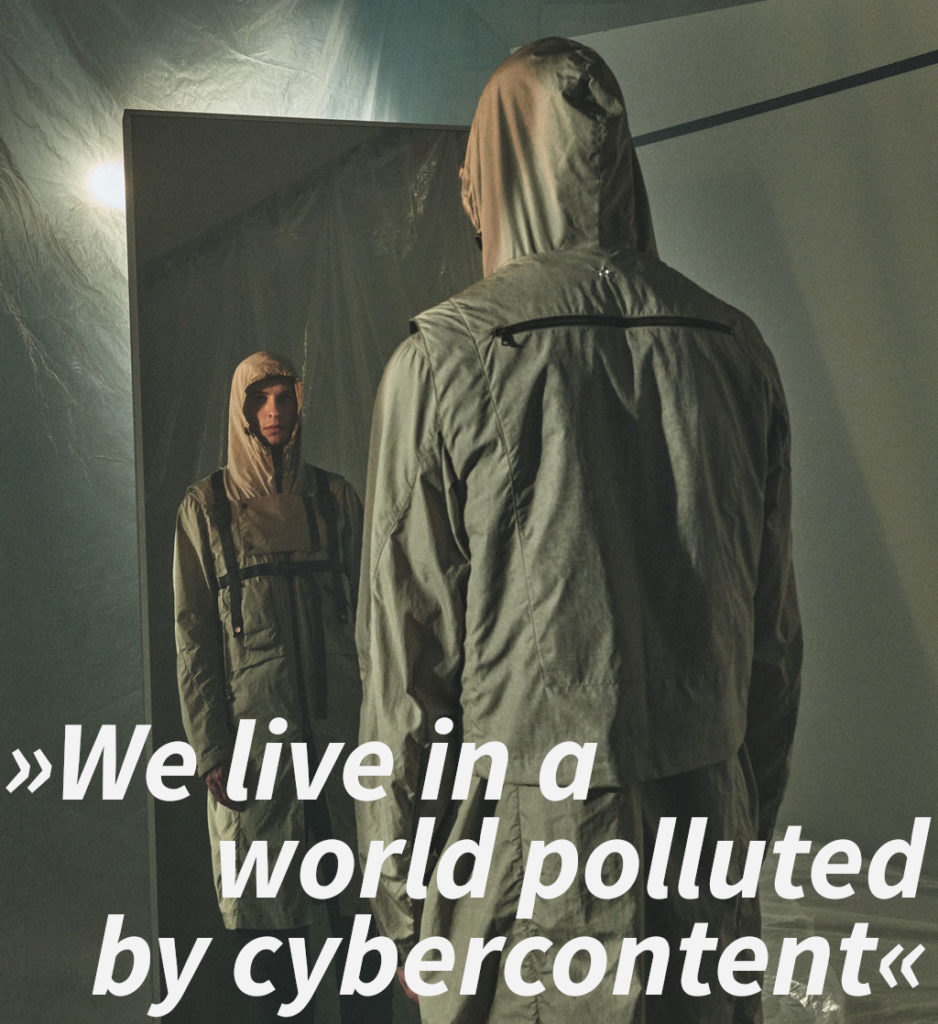 """Enfin Levé Michael van Diem interview quote: """"We live in a world polluted by cybercontent"""""""