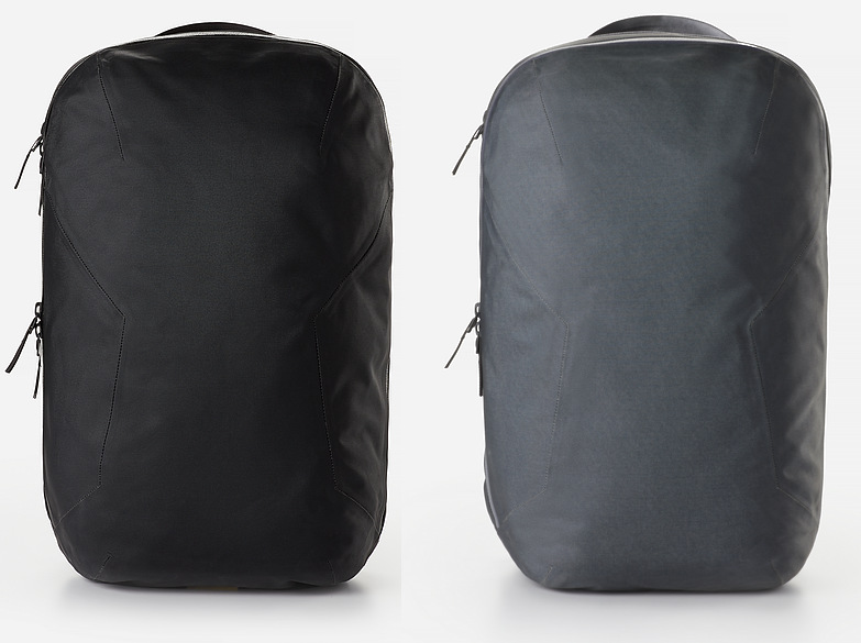 Veilance Nomin backpack colors black and ash.
