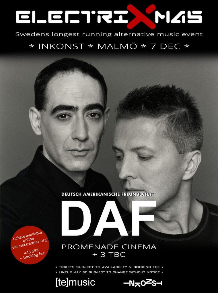 electriXmas 2019  DAF (de) Promenade Cinema (uk) + 3 artists to be confirmed!