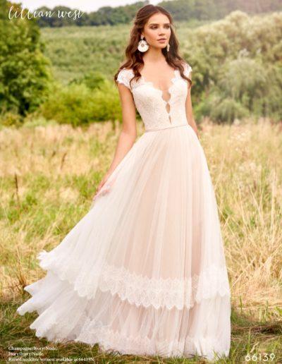 Brautkleid 66139 von Justin Alexander.