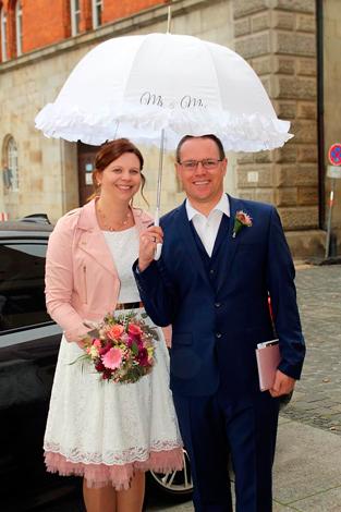 Andrea B. mit Ehemann