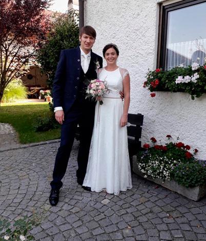 Andrea H. mit Ehemann