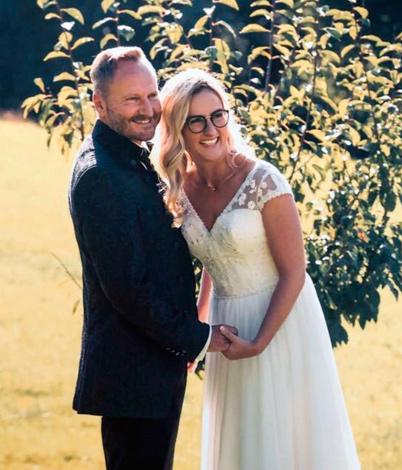 Claudia W. mit Ehemann