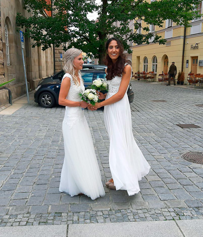 Ilona S. mit Ehefrau