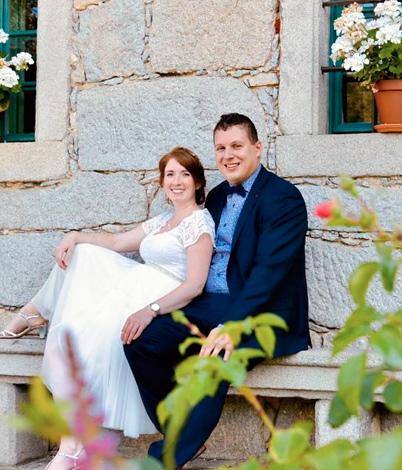 Julia R. mit Ehemann